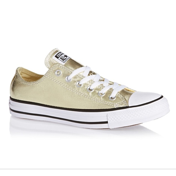 gold converse low tops - 53% OFF